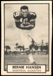 1962 Topps CFL #87  Bernie Hansen  Front Thumbnail