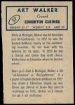 1962 Topps CFL #57  Art Walker  Back Thumbnail