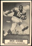 1962 Topps CFL #81  Dick Cohee  Front Thumbnail