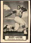 1962 Topps CFL #91  Marv Luster  Front Thumbnail