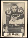 1962 Topps CFL #78  Ron Brooks  Front Thumbnail