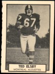1962 Topps CFL #84  Ted Elsby  Front Thumbnail