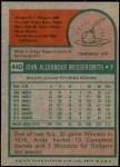 1975 Topps Mini #440  Andy Messersmith  Back Thumbnail