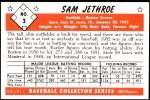 1953 Bowman REPRINT #3  Sam Jethroe  Back Thumbnail