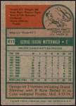 1975 Topps Mini #411  George Mitterwald  Back Thumbnail