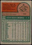 1975 Topps Mini #634  Cy Acosta  Back Thumbnail