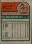 1975 Topps Mini #645  Danny Cater  Back Thumbnail