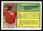 1994 Topps #278  Pokey Reese  Back Thumbnail