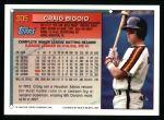 1994 Topps #305  Craig Biggio  Back Thumbnail