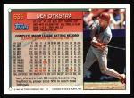 1994 Topps #635  Len Dykstra  Back Thumbnail