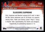 2015 Topps Update #241   -  David Ortiz / Pablo Sandoval / Hanley Ramirez Sluggers Supreme Back Thumbnail