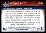 2015 Topps Update #249  Anthony Rizzo  Back Thumbnail