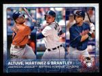 2015 Topps #2   -  Jose Altuve / Victor Martinez / Michael Brantley AL Batting Leaders Front Thumbnail