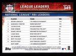 2015 Topps #349   -  Adrian Gonzalez / Giancarlo Stanton / Justin Upton NL RBI Leaders Back Thumbnail