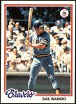 1978 Topps #265  Sal Bando  Front Thumbnail