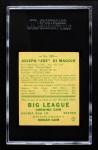 1938 Goudey Heads Up #250 / #274 Joe DiMaggio  Back Thumbnail