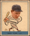 1938 Goudey Heads Up #260 / #284 Rudy York  Front Thumbnail