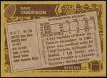 1986 Topps #27  Dave Duerson  Back Thumbnail