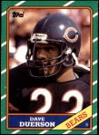 1986 Topps #27  Dave Duerson  Front Thumbnail