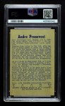 1957 Parkhurst #7  Andre Pronovost  Back Thumbnail