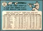 1965 Topps #502  Don Cardwell  Back Thumbnail