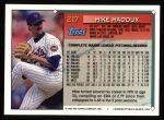 1994 Topps #217  Mike Maddux  Back Thumbnail