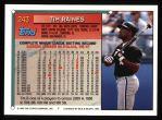 1994 Topps #243  Tim Raines  Back Thumbnail