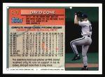 1994 Topps #510  David Cone  Back Thumbnail