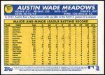 2019 Topps Heritage #537 A Austin Meadows  Back Thumbnail