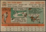 1956 Topps #182  Paul Minner  Back Thumbnail