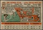 1956 Topps #243  Sherm Lollar  Back Thumbnail