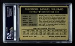 1954 Wilson Franks  Ted Williams  Back Thumbnail
