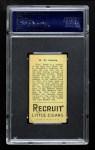 1912 T207  Tex Erwin    Back Thumbnail