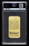 1912 T207  Jack Graney    Back Thumbnail