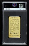 1912 T207  Willie Mitchell    Back Thumbnail