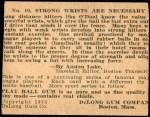 1933 DeLong Gum R333 #10  Lefty O'Doul  Back Thumbnail