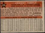 1958 Topps #478   -  Johnny Temple All-Star Back Thumbnail