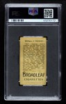 1912 T207 Broad Leaf BL Bill Sweeney    Back Thumbnail