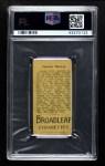 1912 T207 Broad Leaf BL Buck Herzog    Back Thumbnail
