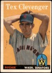 1958 Topps #31  Tex Clevenger  Front Thumbnail
