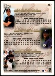 1998 Topps #257   -  David Ortiz / Richie Sexson / Daryle Ward Prospects Back Thumbnail