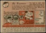 1958 Topps #57 WN Tim Thompson  Back Thumbnail
