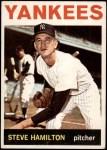 1964 Topps #206  Steve Hamilton  Front Thumbnail