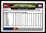 2008 Topps Update #60  Jim Edmonds  Back Thumbnail