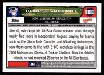 2008 Topps Update #83   -  George Sherrill All-Star Back Thumbnail