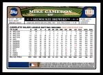 2008 Topps Update #130  Mike Cameron  Back Thumbnail