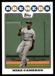 2008 Topps Update #130  Mike Cameron  Front Thumbnail