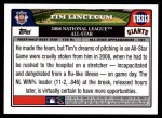 2008 Topps Update #313   -  Tim Lincecum All-Star Back Thumbnail