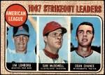 1968 O-Pee-Chee #12   -  Dean Chance / Jim Lonborg / Sam McDowell AL Strikeout Leaders Front Thumbnail