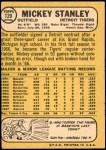 1968 Topps Milton Bradley #129 MB Mickey Stanley  Back Thumbnail